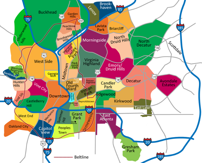 Map of Metro Atlanta
